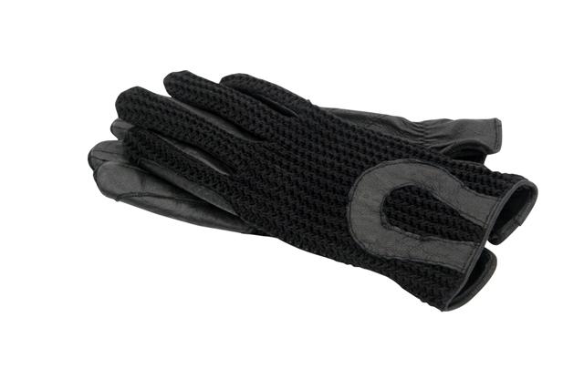 Horka Crochet leren handschoenen zwart