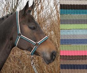 Harry's Horse Halsterset Mercurius dark gull gray maat pony groen