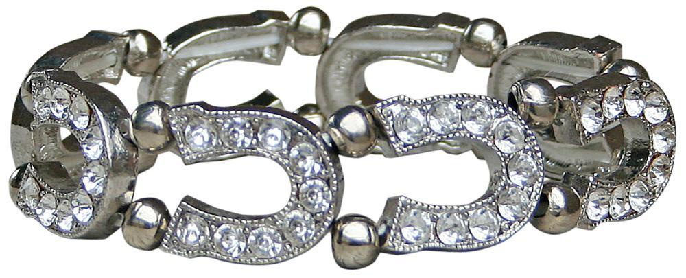 Armband met hoefijzer uit de crystal serie