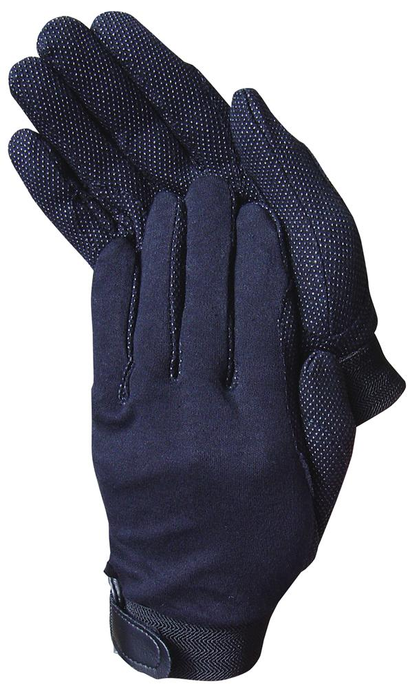Katoenen handschoenen zwart