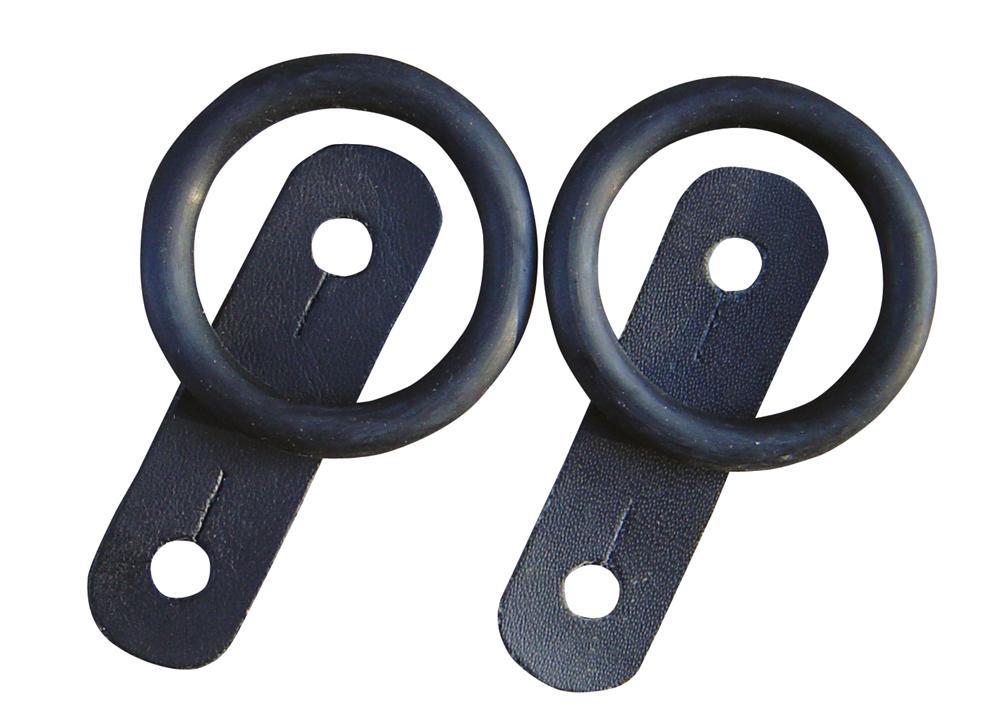 Setje rubber en leer zwart