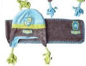 Harry's Horse kinder muts en sjaal set blauw