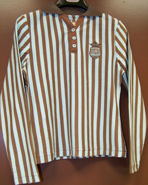 Harry´s Horse shirt stripe seal brown maat M