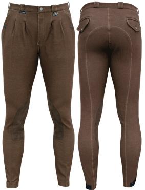 Harry's Horse Heren rijbroek Jeans Look bruin