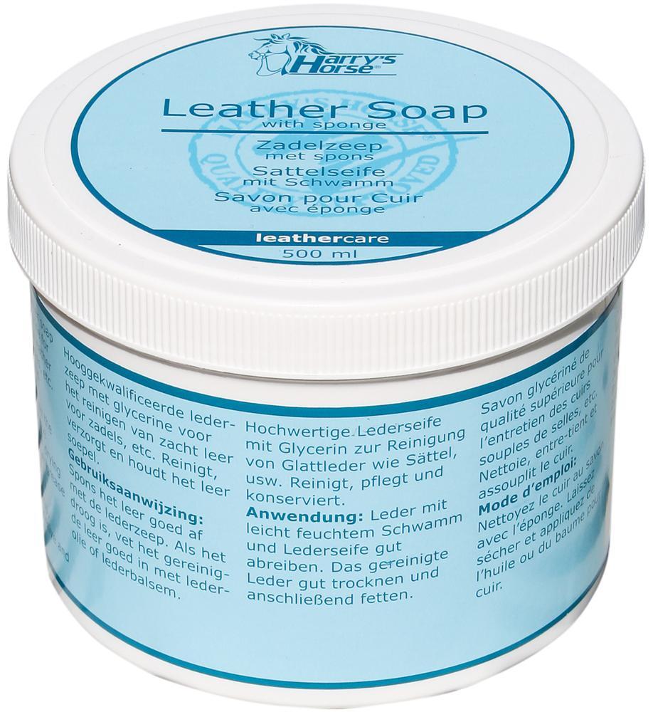 leer zeep met spons