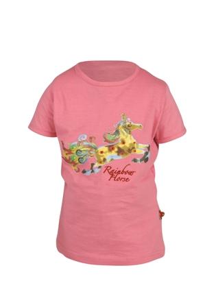 Red Horse Kinder t shirt rose 104 116