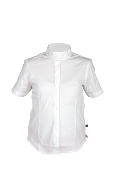 Dressuur blouse korte mouw wit