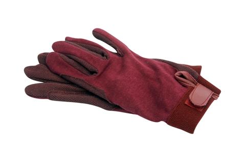Katoenen handschoenen burgundy L