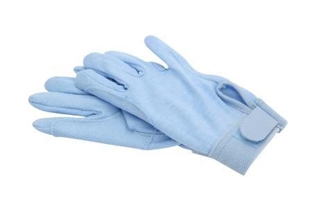Katoenen handschoenen licht blauw
