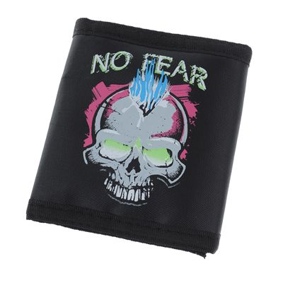 No Fear Wallet skull