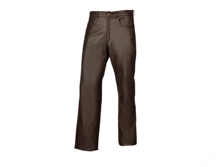 Motomod classic leren jeans motorbroek buffalo marron