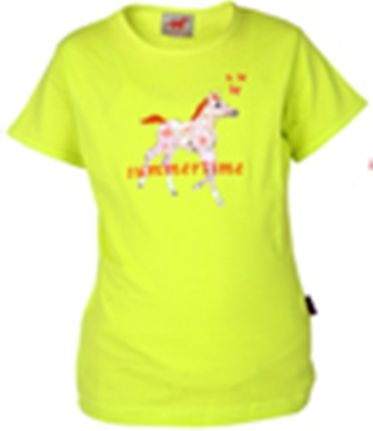 Red Horse Kinder t shirt geel maat 104