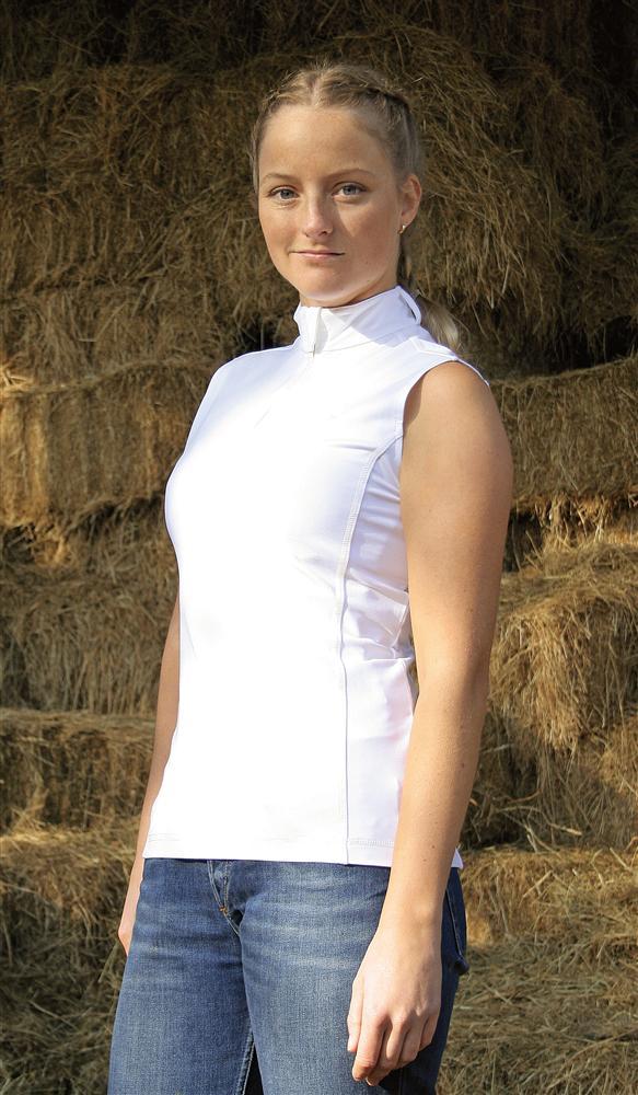 wedstrijdsshirt mouwloos wit