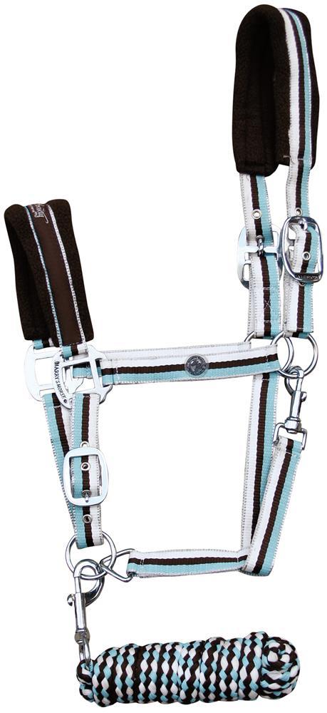 Harry's Horse Halster set shet stripe bracken shet