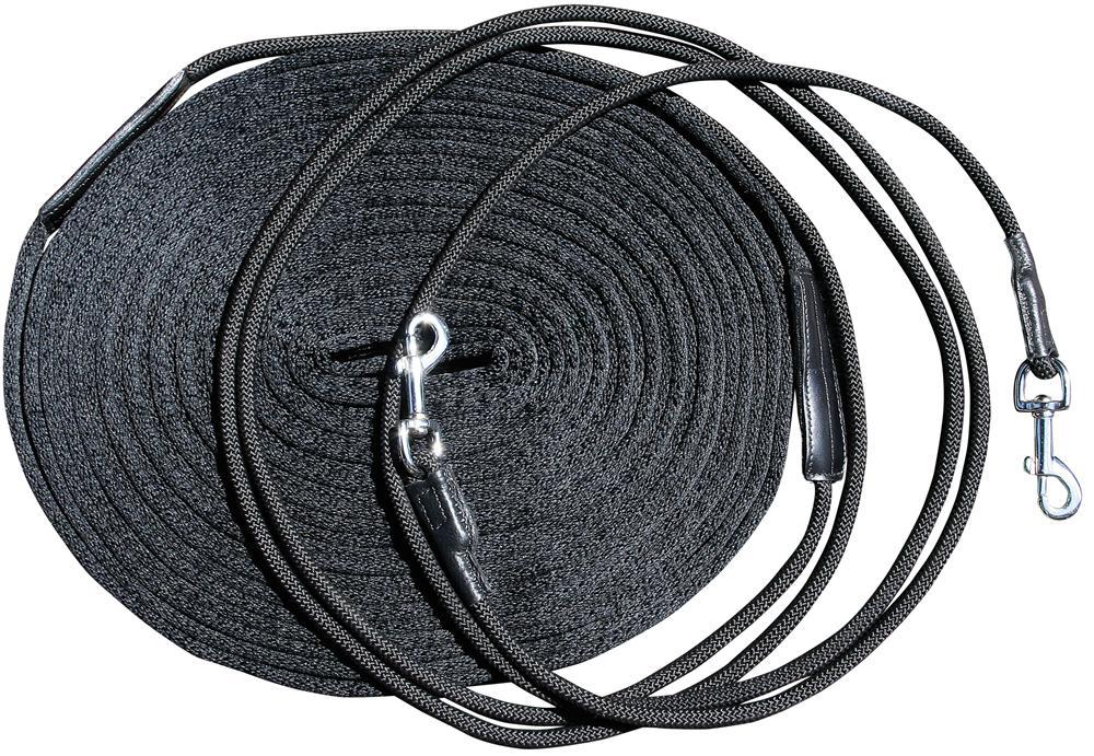 Dubbele longeerlijn zwart
