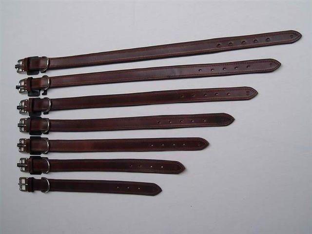HB Hondenhalsband gevoerd met paardjes bruin 35 50 65