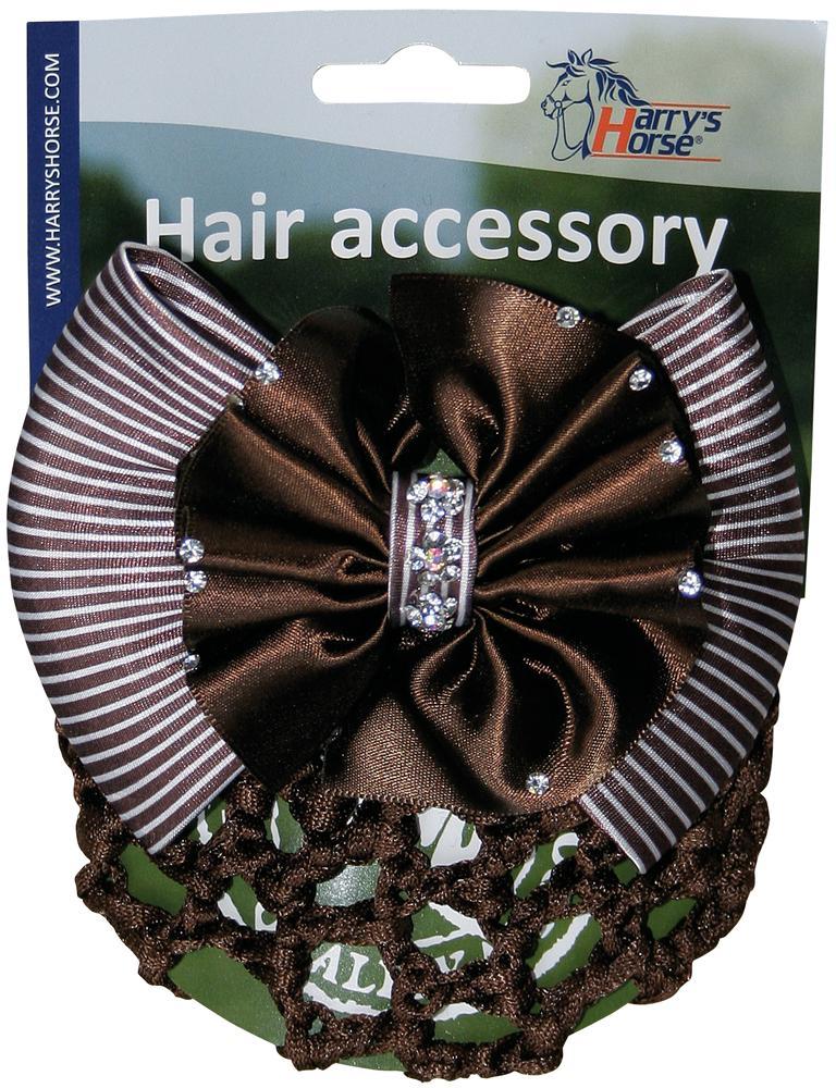 Hair Clip Strass bruin