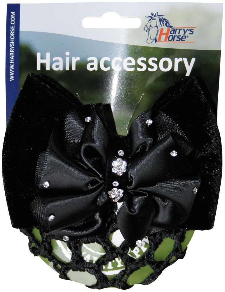 Haarclip zwart flower