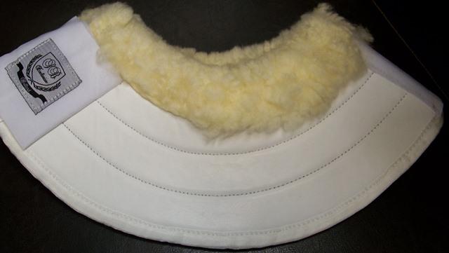 Dhh Dutch springschoenen met schapenbont  / bell boot wit l