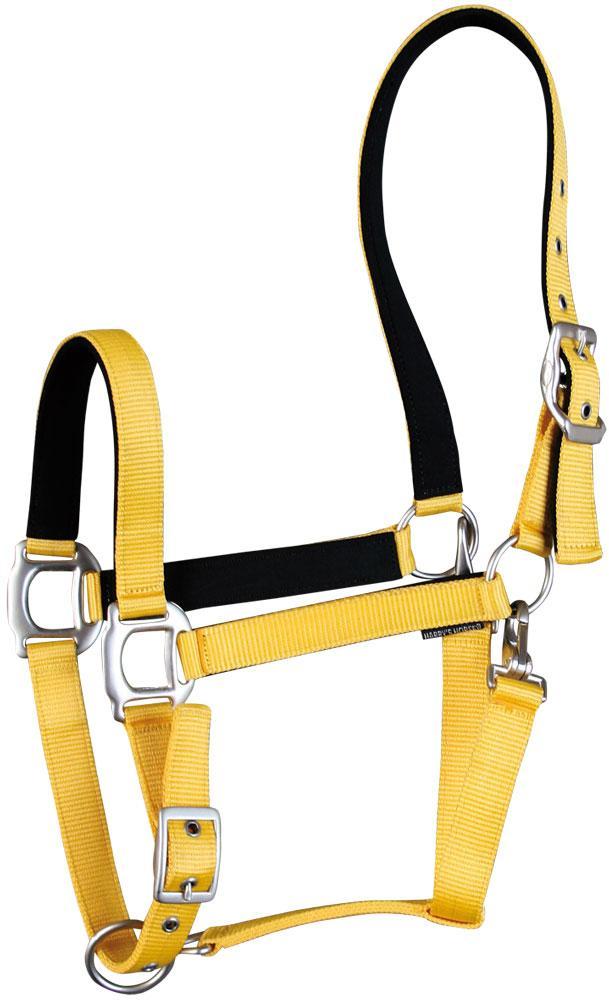 Harry's Horse Halster neon geel  pony cob