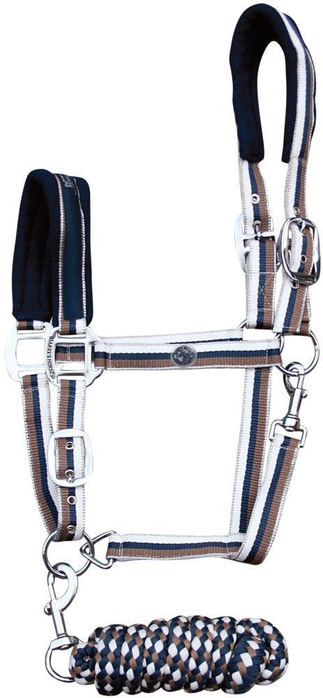 Harry's Horse Halster set stripe majolica blue shet  pony full