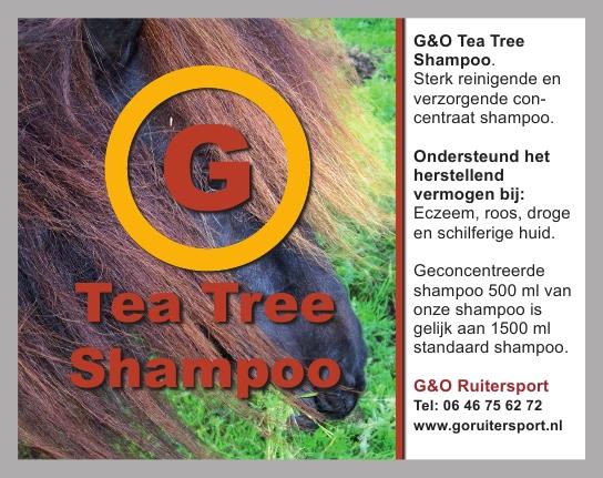 G&O Shampoo Tea Tree 500 ml