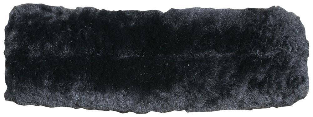 Neusriem onderlegger merino (wol ) zwart cream