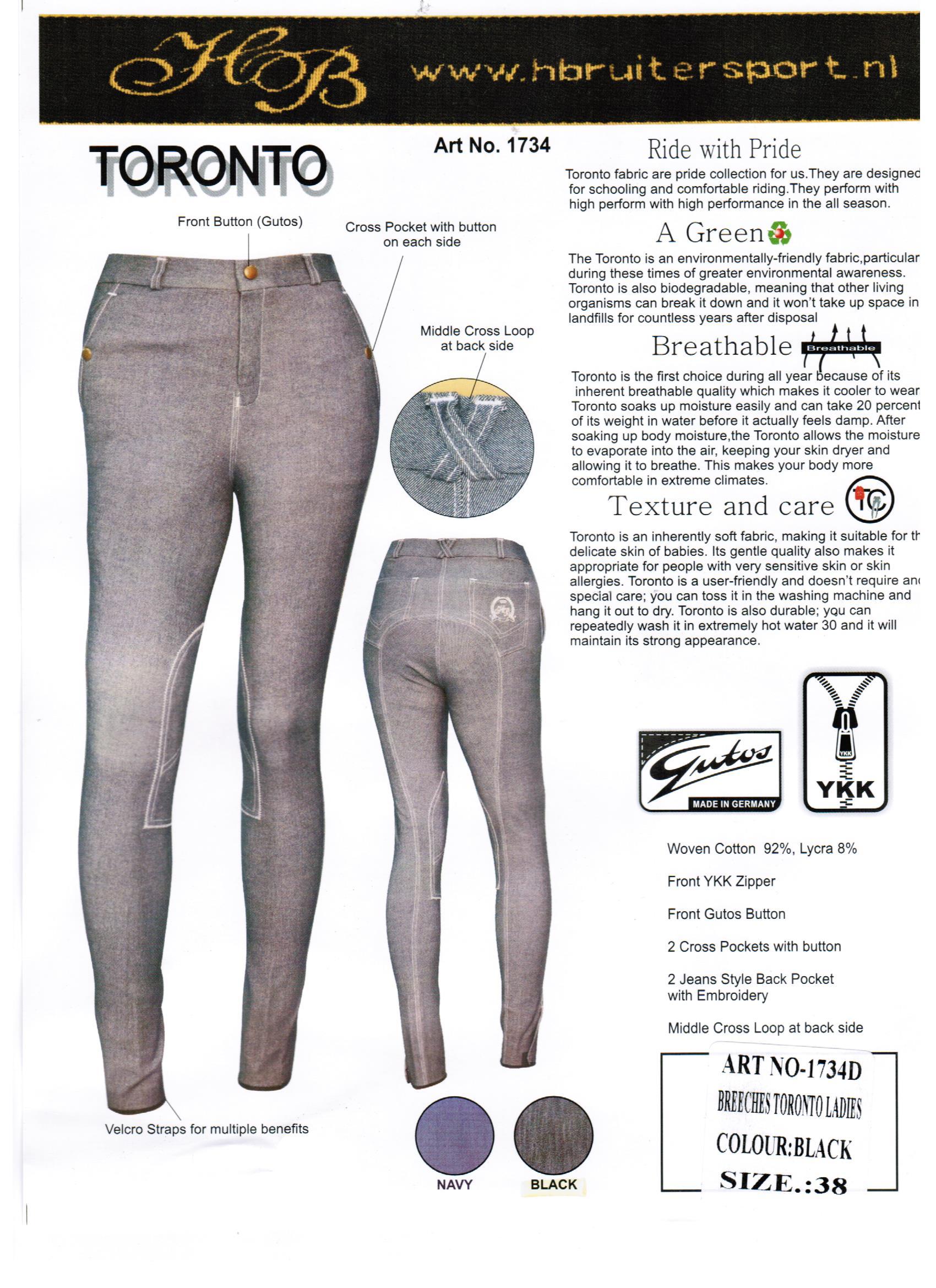 HB jeans Rijbroek Katinka tornoto zwart maat 38 +42