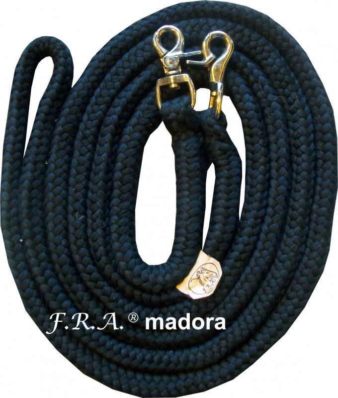 FRA TEUGELS MADORA GEVLOCHTEN 12mm 300cm nature/zwart