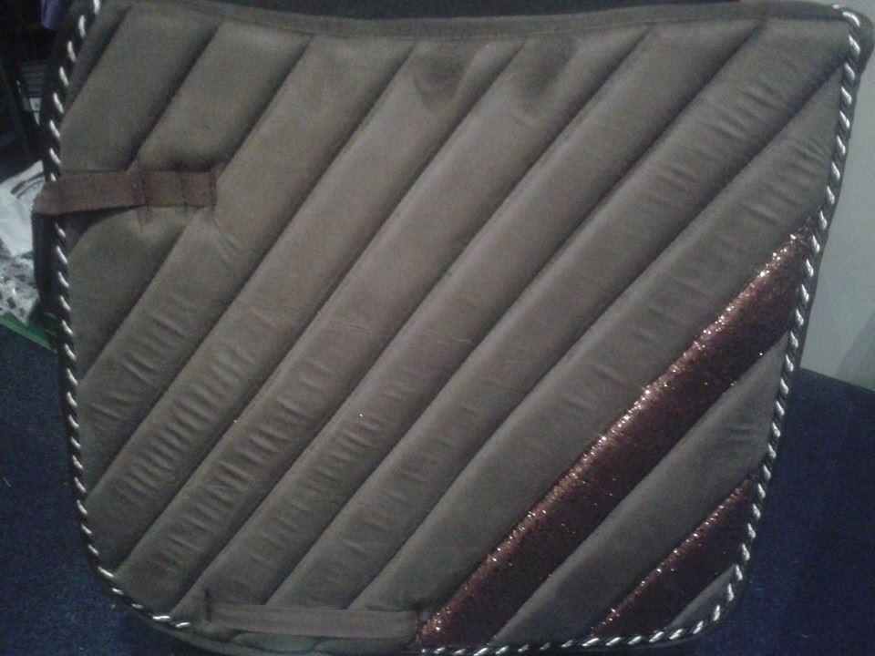 Dutch Saddlepad Dressage bruin cob full dressuur