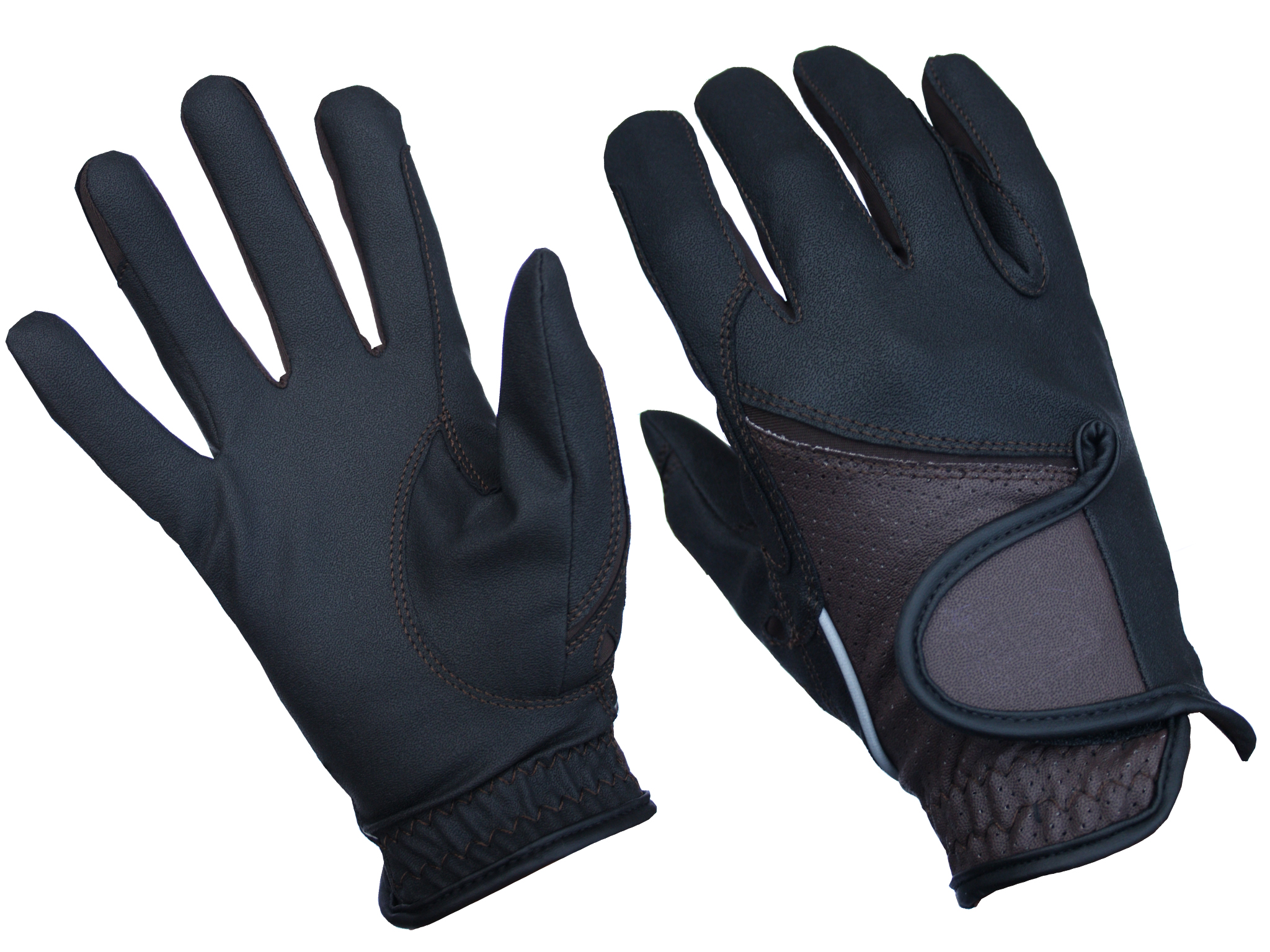 Handschoen Rider Pro HAMILTON bruin zwart S M L