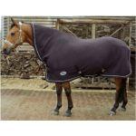 Harry's Horse Fleecedeken Deluxe met hals en singels zwart 145 155 185
