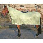 Harry's Horse vliegendeken met zadel uitsparing en hals nature maat 145 valt als 155