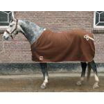 Danny`s Fleece statiedeken met gratis fleece halster en touw bruin maat 215