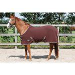 Harry's Horse Fleecedeken standaard met singels bruin / black coffee 145