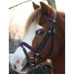 DHH Hoofdstel Stitch rose  pony