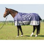 Harry's Horse Buitendeken Deken Thor 0gr Fleece Crown Blue w/print 175 185 205