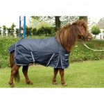 HB Harry and Hector Pony Outdoor waterdichte regendeken Blauw fleece 95 105 115 125 135