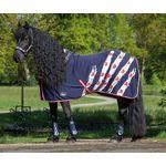 Jerseyfleece deken Friesian 195 205 Harry's Horse